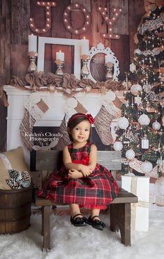 Joyful Christmas ~ Fabric photography backdrop from Baby Dream Backdrops