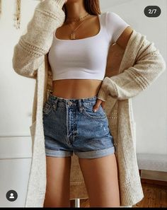 Trendy Summer Outfits, Cute Casual Outfits, Simple Outfits, Pretty Outfits, Stylish Outfits, Casual Wear, Teen Fashion Outfits, Outfits For Teens, Denim Fashion