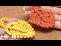 Crochet Leaf  Free Pattern Урок 14 Вязание крючком Листик выполненный круговыми рядами - YouTube