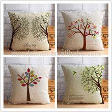100% puro y natural de lino árbol de ropa de cama estampada fundas de colchón-imagen-Cojín -Identificación del producto:60165616776-spanish.alibaba.com