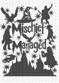 Mischief Managed! Cross stitch.
