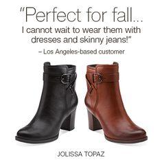 Jolissa Topaz | #clarks | #fallstyle | #boots