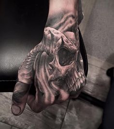 Horned Skull http://tattooideas247.com/horned-skull-hand/