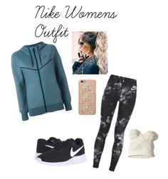 """""""Nike inspired outfit"""" by cas10140 on Polyvore featuring NIKE, Hollister Co. and MICHAEL Michael Kors"""
