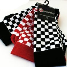 NEW - Socksteady 3 Pack Of Socks by Warrior Clothing- Two Tone Checkered for yoru wearing pleasure- Pick Em up today and don't forget to use the code AYP18 for an additional 10% off our amazing Weekend Sale prices!!  #ayp #warriorclothing #punk #aypsale
