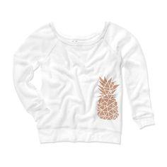 Rose Gold Metallic Geometric Pineapple Sweatshirt