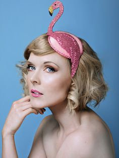 British pop surreal millinery by Bink, made in West Yorkshire, UK. Quirky hats, fascinators, headdresses & headpieces for Royal Ascot, Brides, Races, Weddings.