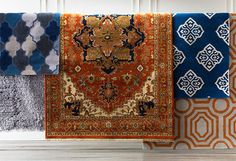Refresh the Room for 2015 - i like the rug in the middle of this set... maybe too bold for the library?