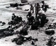 D-Day: The Normandy Invasion. Medics attend to wounded soldiers on Utah Beach in France during the Allied Invasion of Europe on D-Day, June www.mil/d-day Infantry Division D Day Photos, Photos Du, Utah, World History, World War Ii, Ww2 History, Omaha Beach, D Day Normandy, Normandy France