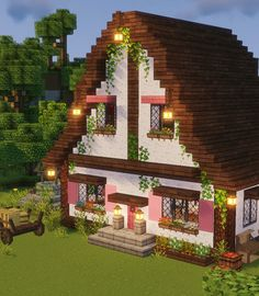 Minecraft House Plans, Easy Minecraft Houses, Minecraft House Tutorials, Minecraft Room, Minecraft House Designs, Amazing Minecraft, Minecraft Tutorial, Minecraft Blueprints, Minecraft Mansion