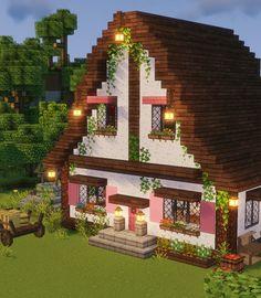 Minecraft House Plans, Minecraft Mansion, Minecraft House Tutorials, Cute Minecraft Houses, Minecraft Room, Minecraft House Designs, Amazing Minecraft, Minecraft Tutorial, Minecraft Blueprints