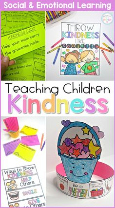 This social awareness SEL curriculum includes 5 detailed, research-based lessons filled with hands-on and mindful activities that teach children about kindness, have them complete a kindness challenge with random acts of kindness, and ways to be a bucket filler. #bucketfiller #kindness #kindnessquotes #classroomactivities #charactereducation  #socialresponsibility #socialemotionallearning