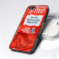 Taco Bell Fire Sauce 5 design for iPhone 5 Case