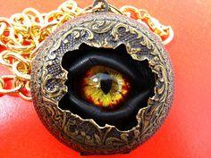 Steampunk Necklace Sightmares Eye Time by DrBrassysSteampunk, $50.00