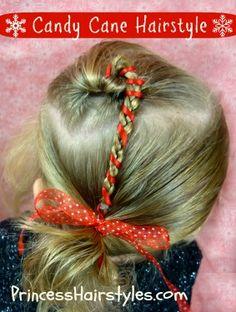 Cute candy cane hair tutorial