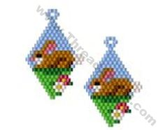 Easter Rabbit Earring Bead Pattern By ThreadABead