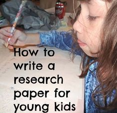 How to write a research paper for elementary school