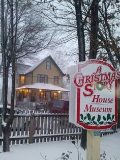 """The house from """"A Christmas Story"""", restored to how it was in the film.  Cleveland, Ohio."""
