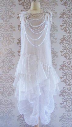Wedding Dress Wedding Gown Reception Dress Alternative Wedding Dress : LOLA 2 Pieces Liberty Flapper Dress Custom Size on Etsy, $199.00