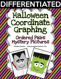 Halloween Coordinate Graph Mystery Pictures and a Photo Update! Halloween Math, Halloween Activities, Halloween Crafts, Holiday Activities, Halloween Ideas, Graphing Worksheets, Graphing Activities, Math Concepts, Fun Math