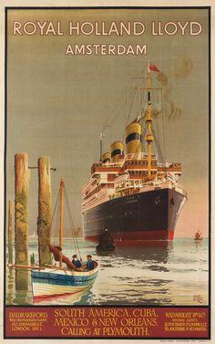 HARRY HUDSON RODMELL (1896-1984) ROYAL HOLLAND LLOYD / AMSTERDAM / [LIMBURGIA.] 1921.
