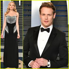 Sam Heughan Attends Oscars After Party with Girlfriend Mackenzie Mauzy!