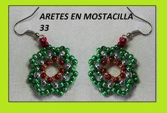 MANERA DE HACER ARETES FACILMENTE//perlas de colores y mostacilla checa