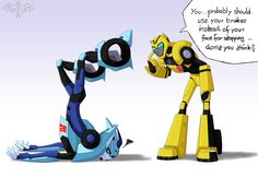 TFA - Not again... by Shade-SilverWing on deviantART (Poor Zippy/Blurr XD)