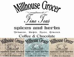 Millhouse Grocer Signs Graphic Transfer Image by GeorgesKitchen