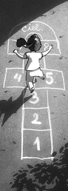 La marelle by ~Kosal on deviantART (this is a typical game we used to play on the street when we were kids, looks like so very familiar to me...)