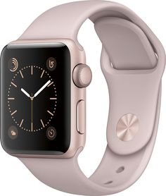 Apple - Apple Watch Series 2 38mm Rose Gold Aluminum Case Pink Sand Sport Band - Rose Gold Aluminum, MNNY2LL/A