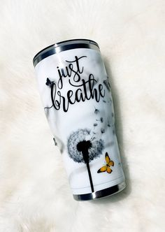 Mom Tumbler, Girls Tumbler, Tumbler Cups, Diy Tumblers, Personalized Tumblers, Custom Tumblers, Just Breathe, Custom Cups, Tumbler Designs