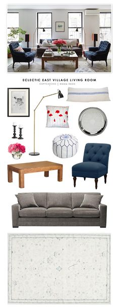 Copy Cat Chic Room Redo | Eclectic East Village Living Room | | Copy Cat Chic | chic for cheap | Bloglovin'