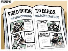 Militia Birds, Steve Sack,The Minneapolis Star Tribune,militia,protest,Oregon