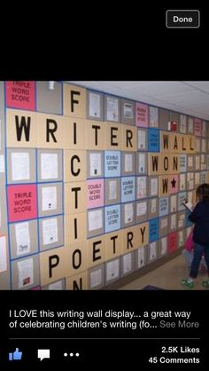Gives students a great way to find writing prompts and ideas or to display a students work!