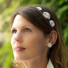 Vesna Garic | Bijoux d'élégance en porcelaine Headband et boucles d'oreilles Floretta