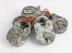 These are lovely, large, unique and very old 'Mickey Mouse' iron padlocks with their original key.  #padlock #vintage #antique #sale #offer Wooden Chest, Furniture Sale, Padlocks, Storage Chest, Mickey Mouse, Keys, Trunks, Money, Drift Wood