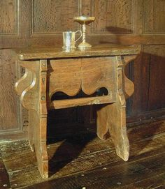 Handmade Medieval Style Oak Stool | Middle Ages | Early English | Bedside Table | Occassional Table