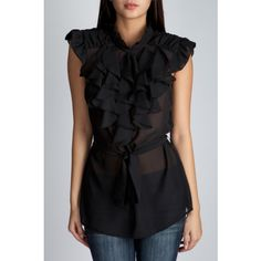 For a modern version, here's a Satin and Lace Overlay top with satin sash waist tie and flutter sleeves. Description from thegloss.com. I searched for this on bing.com/images