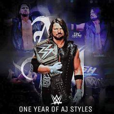 el 1. año de A.J. Styles