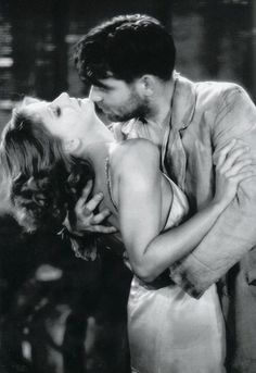 Greta Garbo and Clark Gable.