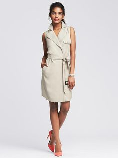 Belted Trench Dress Product Image