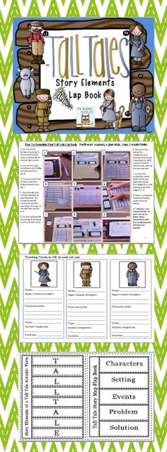 Do you teach Tall Tales? Then this is just the book unit you need! Tall Tales Activities, Reading Activities, Teaching Reading, Learning, Reading Strategies, Reading Skills, Reading Comprehension, Genre Study, Third Grade Reading