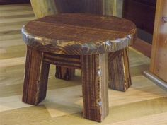 cute little stool  Rustic/ Farmhouse stool/ Primitive/ round by EastabrooksTreeWorks, $35.00
