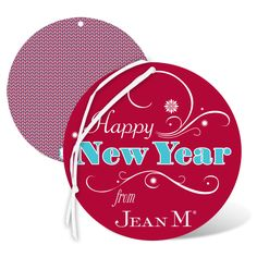 New Year wishes from Jean M on our Seasonal Flourish Holiday Card Ornament.