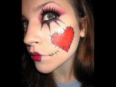 Ragdoll makeup for halloween