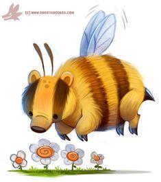 Daily Paint #1148. Honey Badger, Piper Thibodeau on ArtStation at https://www.artstation.com/artwork/RL9NW
