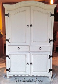 Pine Armoire Painted SW Westhighland White