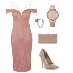 Pink Dress with strap - 1001noches
