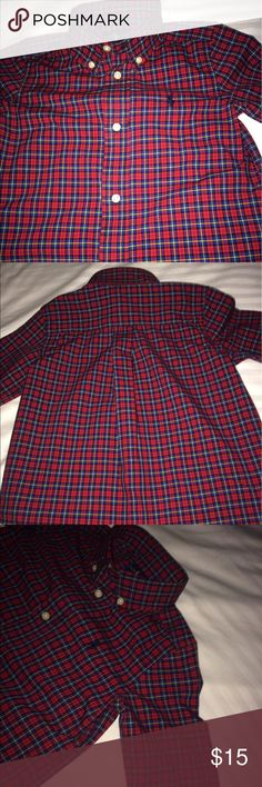 Perfect Red Ralph Lauren Poplin Shirt Perfect condition Ralph Lauren poplin shirt for the holiday season. Signature embroidered pony at the left chest. Button-down point collar. Ralph Lauren Shirts & Tops Button Down Shirts